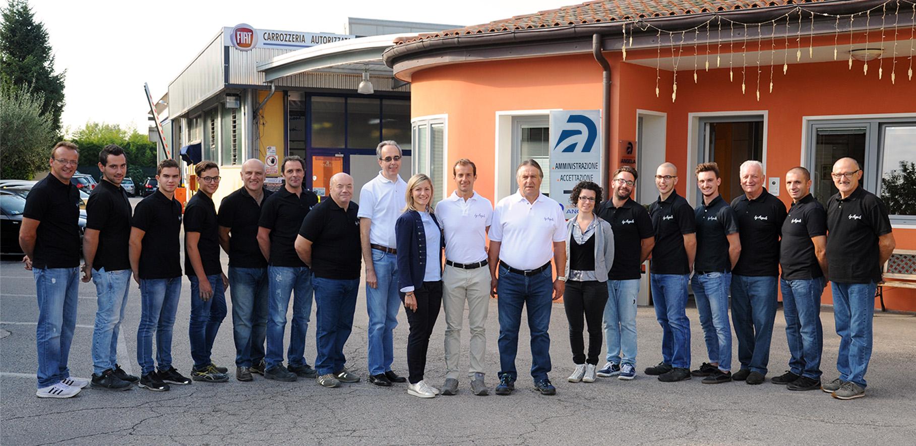Carrozzeria Angela, lavoratori, Eleonora Suelotto, Walter Suelotto, l'azienda, valori aziendali, personale della carrozzeria
