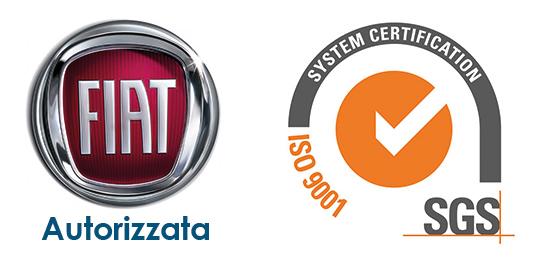 Carrozzeria autorizzata FIAT. Certificazione SGS iso 9001